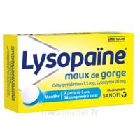 LYSOPAÏNE Comprimés à sucer maux de gorge sans sucre 2T/18 à TOUCY
