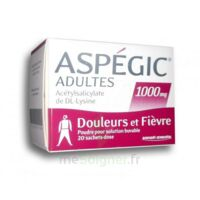 Aspegic Adultes 1000 Mg, Poudre Pour Solution Buvable En Sachet-dose 20 à TOUCY