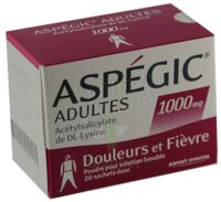 Aspegic Adultes 1000 Mg, Poudre Pour Solution Buvable En Sachet-dose 15 à TOUCY