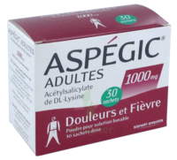 Aspegic Adultes 1000 Mg, Poudre Pour Solution Buvable En Sachet-dose 30 à TOUCY