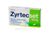 ZYRTECSET 10 mg, comprimé pelliculé sécable à TOUCY
