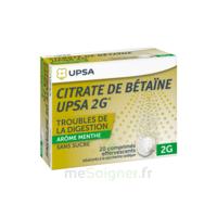 Citrate De Bétaïne Upsa 2 G Comprimés Effervescents Sans Sucre Menthe édulcoré à La Saccharine Sodique T/20 à TOUCY