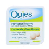 QUIES PROTECTION AUDITIVE CIRE NATURELLE 8 PAIRES à TOUCY
