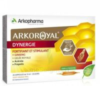 Arkoroyal Dynergie Ginseng Gelée royale Propolis Solution buvable 20 Ampoules/10ml à TOUCY