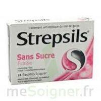 STREPSILS FRAISE SANS SUCRE, pastille édulcorée à l'isomalt, au maltitol et à la saccharine sodique à TOUCY