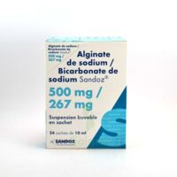 ALGINATE DE SODIUM/BICARBONATE DE SODIUM SANDOZ 500 mg/267 mg, suspension buvable en sachet à TOUCY