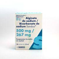 ALGINATE DE SODIUM/BICARBONATE DE SODIUM SANDOZ 500 mg/267 mg, suspension buvable en sachet à TOUCY