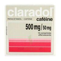 Claradol Cafeine 500 Mg/50 Mg, Comprimé Effervescent à TOUCY