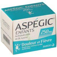 ASPEGIC ENFANTS 250, poudre pour solution buvable en sachet-dose à TOUCY