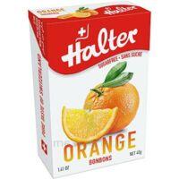 Halter Bonbon sans sucre orange 40g à TOUCY