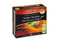Superdiet Gelée Royale Miel Pollen Bio Solution Buvable 10 Ampoules/15ml à TOUCY