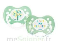 Dodie Duo - Sucette Anatomique Silicone 0-6mois - Love My Planet B/2 à TOUCY
