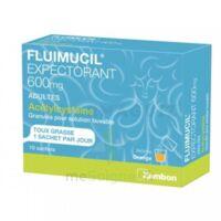 FLUIMUCIL EXPECTORANT ACETYLCYSTEINE 600 mg Glé s buv adultes 10Sach à TOUCY