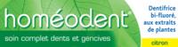 Boiron Homéodent Soin Complet Dents Et Gencives Pâte Dentifrice Citron 2t/75ml à TOUCY