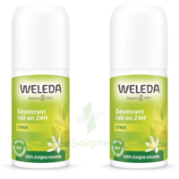 Weleda Duo Déodorant Roll-on 24H Citrus 100ml à TOUCY